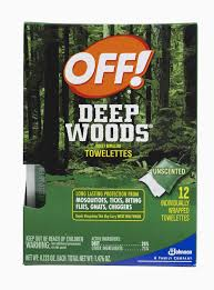 off deep woods insect repellent towelettes u2013 12 count u0027s