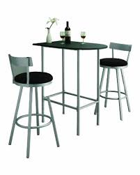 silver metal bar table monarch specialties space saver bar table 24 inch by 36 inch black