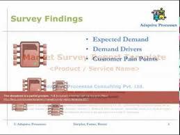 market survey report template youtube
