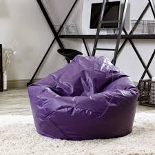 funiture glowing purple bean bag chairs in sweet hairy white rug
