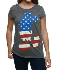 Mickey Mouse Flag Womens Mickey Mouse Usa T Shirt