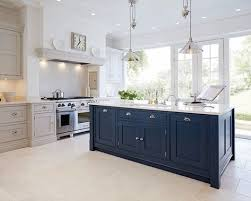 blue painted kitchen bespoke kitchens tom howley because