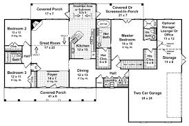 single story 4 bedroom 3 bath house plans single free printable