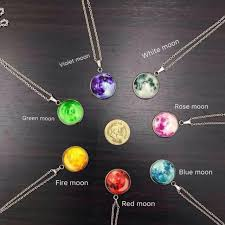 blue moon necklace images Glow in the dark moon necklace preloved women 39 s fashion jewelry jpg