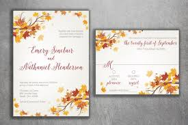 fall wedding invitations autumn wedding invitation set fall wedding invitation september