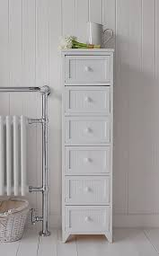 Bathroom Storage Cabinets With Drawers Maine Narrow Freestanding Bathroom Cabinet With 6 Drawers For