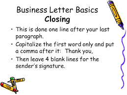 Casual Business Letter Closings Writing A Business Letter Ppt Video Online Download