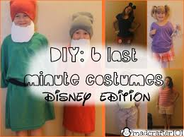 Quick Halloween Costumes For Teens Diy 6 Last Minute Halloween Costumes Disney Edition Youtube