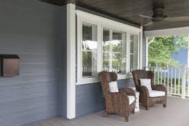 wow front porch renovation with wicker chairs u0026 wood porch
