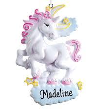 personalized unicorn ornament ornament kimball