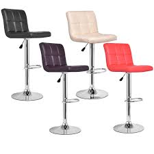 modern pu leather swivel bar stool table u0026 bar stools chairs
