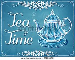 free tea party invitation card download free vector art stock