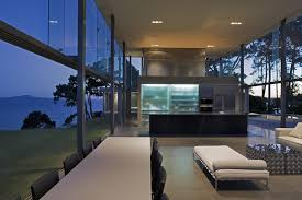 the cliff house dining room living room white off modern wall paint designs applied inside