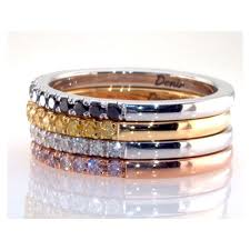 colored rings images Carat set of 4 eternity rings w1249 50 52 53 fancy colored jpg