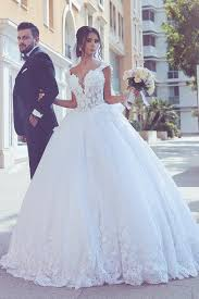 my wedding dresses the shoulder wedding dresses tulle with applique a line court