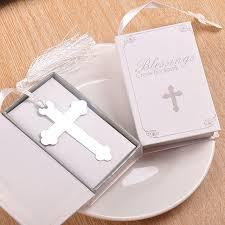 communion gift 20pc silver cross bookmark wedding favors baby shower