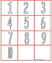 numbers coloring pages 1 10