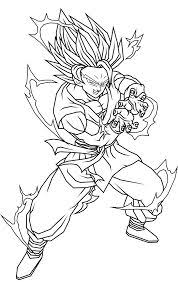 dragon ball z son goku and friends dragon ball z coloring pages