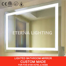 Bathroom Mirror Built In Light by Custom Sized Ul Cul Five Star Hotel Led Lighted Vanity Mirror
