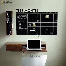 home decor planner diy monthly planner chalkboard vinyl wall calendar decals stickers