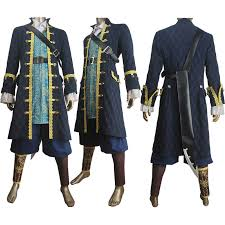 Pirates Caribbean Halloween Costume Pirates Caribbean Captain Hector Barbossa Cosplay Costume