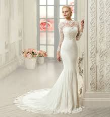 mermaid wedding dresses lace sleeve mermaid wedding dress uniqistic