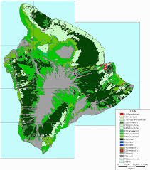 Hawaii vegetaion images Vegetation zones and rainfall for the island of hawai gif