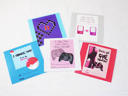 gamer valentines cards gamer themed geeky s day cards with