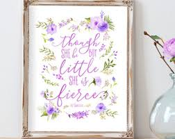 Purple Nursery Wall Decor Purple Nursery Decor Etsy