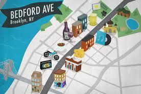 Williamsburg Brooklyn Map Bedford Avenue Manhattan Avenue To Broadway Greenpoint