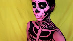 Halloween Skeleton Faces by Easy Halloween Makeup Pop Art Skull Youtube