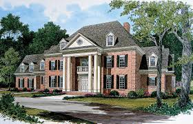 stately georgian manor 17563lv architectural designs house plans