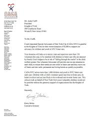 thank you letter from casa nyc u2013 knights of york