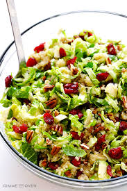 brussels sprouts cranberry and quinoa salad gimmesomeoven