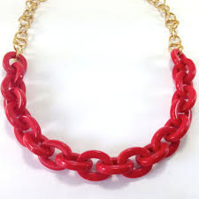 red chain link necklace images Best acrylic chunky link necklace products on wanelo jpg