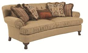 kincaid furniture milan traditional conversation sofa with ruched