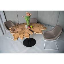 Wohnzimmertisch Baumscheibe Farbiger Stehtisch Mit Holzmaserung Runde Tische