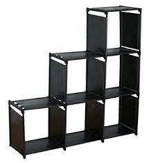 Desk Organizer Shelves Amazon Com Sodynee 3 Tier Storage Cube Closet Organizer Shelf