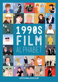 film quiz poster 1990 s film alphabet poster that quizzes your 1990s movie knowledge