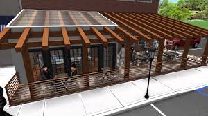 landscape design 3d walkthrough restaurant addition outdoor