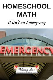homeschool math it isn u0027t an emergency bethany ishee