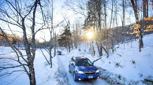 subaru outback snow quick spin winter style 2015 subaru xv crosstrek forester and