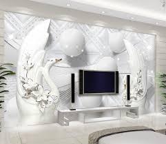 online get cheap elegant wallpaper for walls aliexpress com modern european elegant 3d murals wallpaper photo white swan vinyl wallpaper 3d wall murals for study