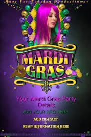 mardi gras party theme mardi gras tuesday masquerade parade party theme bar template