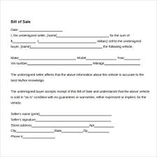 Free Sle Of Bill Of Sale For Used Car by Sle Used Car Bill Of Sale 8 Documents In Pdf