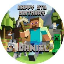 minecraft edible cake topper minecraft archives sweet tops personalised 100 edible cake