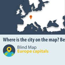 Europe Map Capitals by Blind Map Of Europe Capitals