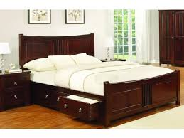 mahogany wood 6ft super king size bed frame with 4 storage drawers