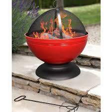 Fire Pit Globe by La Hacienda Globe Enamelled Red Firepit With Grill 56cm Diameter