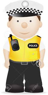 a vector illustration of a british policeman in uniform royalty